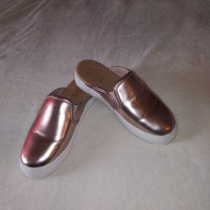 Brash Gold Metallic Sneaker Mules Sz 8
